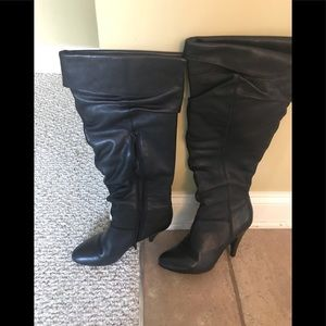 Women's High Black Boots (Aldo)